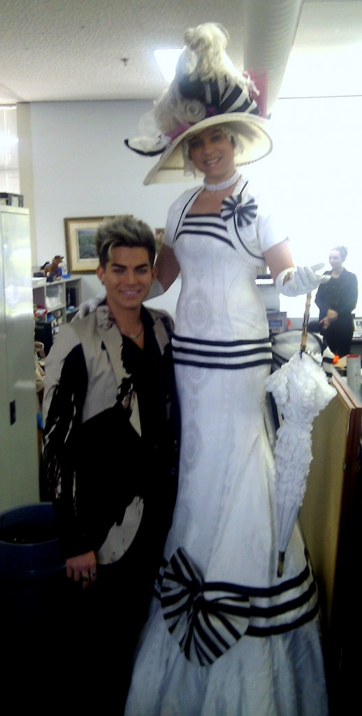 Lady Stilton and Adam Lambert