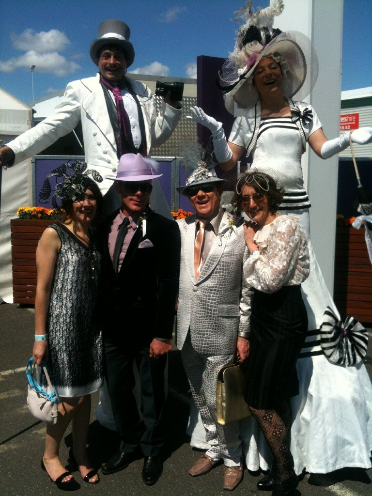 at the races with Lord and Lady Stilton
